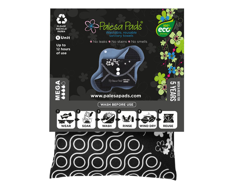 Packaged MEGA Pad - Single Reusable Sanitary Pad - Palesa Pads