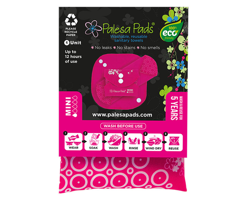 Packaged MINI Pad - Single Reusable Sanitary Pad - Palesa Pads
